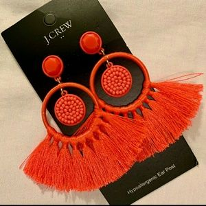 J. Crew Fringe Earrings